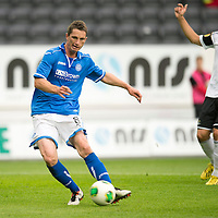 Rosenborg v St Johnstone....18.07.13  UEFA Europa League Qualifier.<br /> Gary McDonald scores but his goal is adjudged offside<br /> Picture by Graeme Hart.<br /> Copyright Perthshire Picture Agency<br /> Tel: 01738 623350  Mobile: 07990 594431