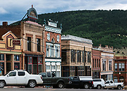 Main Sterrt businesses, Victor, Colorado, USA.