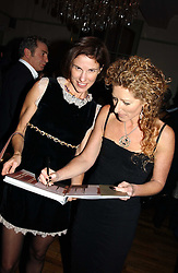 Left to right, NORI STARCK and KELLY HOPPEN at a party to celebrate the publication of Style by interior designer Kelly Hoppen held at 50 Cheyne Walk, London on 10th November 2004.<br />