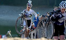 12-01-2014 WIELRENNEN: STANNAH NK CYCLOCROSS VROUWEN: GIETEN<br /> Marianne Vos heeft zondag bij Nederlandse kampioenschappen veldrijden in Gieten haar vierde titel op rij behaald.<br /> ©2014-FotoHoogendoorn.nl