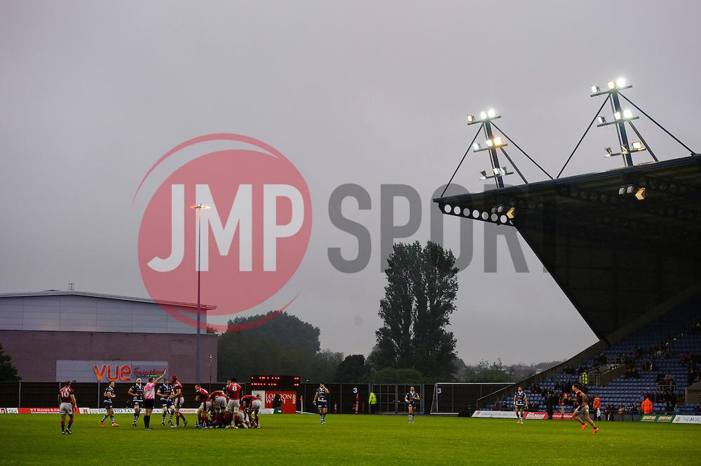 - Photo mandatory by-line: Rogan Thomson/JMP - 07966 386802 - 28/05/2014 - SPORT - RUGBY UNION - Kassam Stadium, Oxford - London Welsh v Bristol Rugby - Greene King IPA Championship Play Off Final First Leg.