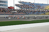 05 MAY 2007: The beginning of the field for the midget race at the Casey's General Stores USAC Triple Crown at the Iowa Speedway in Newton, Iowa on May 5, 2007.