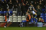 Birmingham City midfielder Maikel Kieftenbeld  celebrates, goal during the Sky Bet Championship match between Birmingham City and Brentford at St Andrews, Birmingham, England on 2 January 2016. Photo by Alan Franklin.