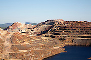 Opencast mineral extraction in the Minas de Riotinto mining area, Huelva province, Spain