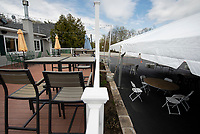 Hart's Turkey Farm will offer their patrons outside dining  options starting on Monday under the new social distancing guidelines.  (Karen Bobotas/for the Laconia Daily Sun)