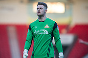 Doncaster Rovers Goalkeeper Ian Lawlor (1) during the The FA Cup match between Doncaster Rovers and Scunthorpe United at the Keepmoat Stadium, Doncaster, England on 3 December 2017. Photo by Craig Zadoroznyj.