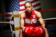 6/24/11 2:41:42 PM -- Colorado Springs, CO. -- A portrait of U.S. Olympic lightweight boxer Queen Underwood, 27, of Seattle, Wash. who will be competing for her fifth title. She began boxing in 2003 and was the 2009 Continental Champion and the 2010 USA Boxing National Champion. She is considered a likely favorite to medal at the 2012 Summer Olympics in London as women's boxing makes its debut as an Olympic sport. -- ...Photo by Marc Piscotty, Freelance.