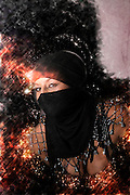 Digitally enhanced Young sexy mid eastern woman with scarf