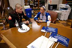 CPL Justin Fisher, SGT Sarah Kristine Baker, co-founder, Native American Women Warriors