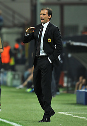 28.09.2011, Stadion Giuseppe Meazza, Mailand, ITA, UEFA CL, Gruppe H, ITA, UEFA CL, AC Mailand (ITA) vs FC Viktoria Pilsen (CZE), im Bild Massimiliano ALLEGRI Allenatore del Milan.. // during the UEFA Champions League game, group H, AC Mailand (ITA) vs FC Viktoria Pilsen (CZE) at Giuseppe Meazza stadium in Mailand, Italy on 2011/09/28. EXPA Pictures © 2011, PhotoCredit: EXPA/ InsideFoto/ Alessandro Sabattini +++++ ATTENTION - FOR AUSTRIA/(AUT), SLOVENIA/(SLO), SERBIA/(SRB), CROATIA/(CRO), SWISS/(SUI) and SWEDEN/(SWE) CLIENT ONLY +++++