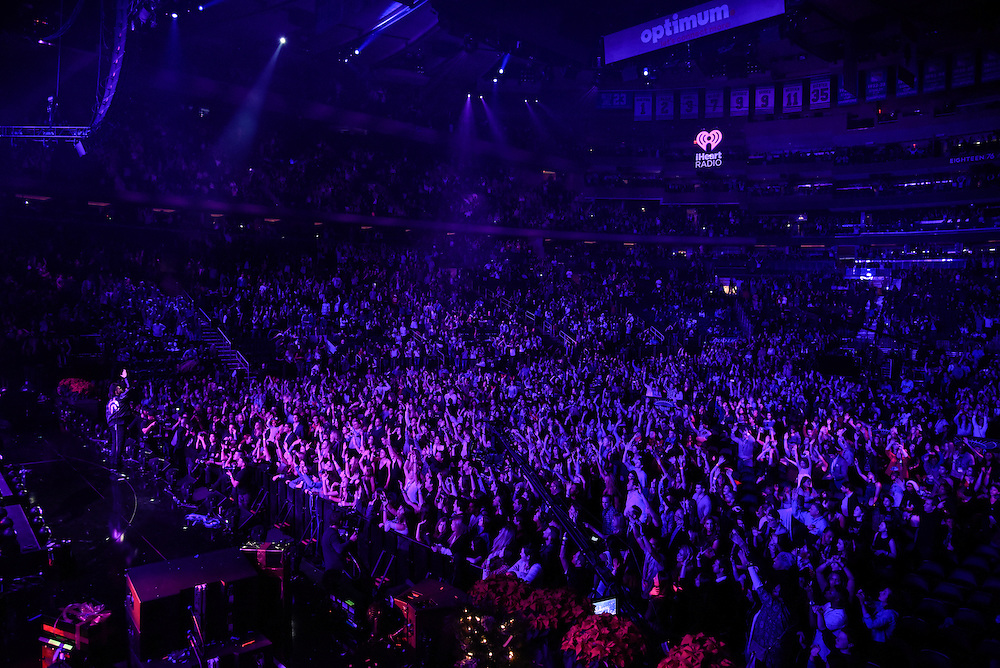 Photos of The Weeknd performing live at iHeartRadio Jingle Ball 2015, hosted by Z100 New York at Madison Square Garden, NYC on December 11, 2015. © Matthew Eisman/ iHeartRadio. All Rights Reserved