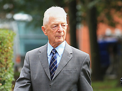 David Sumner, the former chief inspector of South Yorkshire Police arrives at Warrington Magistrates' Court where five men are due to appear charged over the disaster and its aftermath.