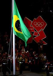 12-08-2012 ALGEMEEN: OLYMPISCHE SPELEN 2012 SLUITINGSCEREMONIE: LONDEN<br /> In het Olympisch Stadion werd met een sluitingsceremonie afscheid genomen van het succesvolle sportevenement. 80.000 Mensen in het stadion en miljoenen mensen thuis zagen een grote show met veel muziek en vuurwerk / London en Rio<br /> ©2012-FotoHoogendoorn.nl