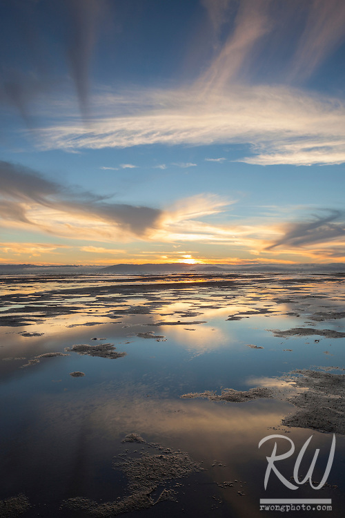 Sunset Cloud Reflections at Robert Crown Memorial State Beach, Alameda, California
