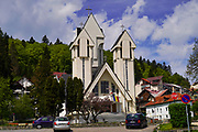 Orthodox church, Predeal a mountain resort town in Brasov County, Romania.