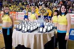 The Cup at Final match of Slovenian Men Handball Cup between RK Cimos Koper and RK Celje Pivovarna Lasko, on April 19, 2009, in Arena Bonifika, Koper, Slovenia. Cimos Koper won 24:19 and became Slovenian Cup Champion. (Photo by Vid Ponikvar / Sportida)