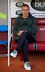 BURNLEY, ENGLAND - Thursday, August 16, 2018: İstanbul Başakşehir's head coach Abdullah Avcı before the UEFA Europa League Third Qualifying Round 2nd Leg match between Burnley FC and İstanbul Başakşehir at Turf Moor. (Pic by David Rawcliffe/Propaganda)