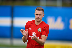 LOS ANGELES, USA - Saturday, May 26, 2018: Wales' Aaron Ramsey during a training session at the UCLA Drake Track and Field Stadium ahead of the International friendly match against Mexico. (Pic by David Rawcliffe/Propaganda)