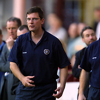 Hearts v St Johnstone    13.10.01<br />Craig Levein<br /><br />Pic by Graeme Hart<br />Copyright Perthshire Picture Agency<br />Tel: 01738 623350 / 07990 594431