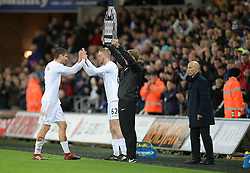 Oliver McBurnie of Swansea City replaces Fernando Llorente of Swansea City - Mandatory by-line: Alex James/JMP - 10/12/2016 - FOOTBALL - Liberty Stadium - Swansea, England - Swansea City v Sunderland - Premier League