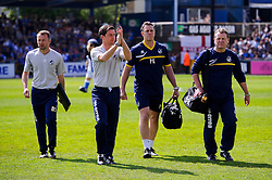 Manager Darrell Clarke (ENG) of Bristol Rovers takes his place in the dugout - Photo mandatory by-line: Rogan Thomson/JMP - 07966 386802 - 03/05/2014 - SPORT - FOOTBALL - Memorial Stadium, Bristol - Bristol Rovers v Mansfield Town - Sky Bet League Two. (Note: Mansfield are wearing a Rovers spare kit having forgotten their own).