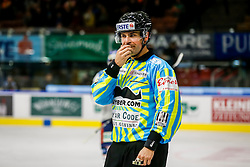 13.11.2015, Eisstadion Liebenau, Graz, AUT, EBEL, Moser Medical Graz 99ers vs Fehervar AV 19, 19. Runde, im Bild ein Referee im Movember Trikot // during the Erste Bank Icehockey League 19th Round match between Moser Medical Graz 99ers and Fehervar AV 19 at the Ice Stadium Liebenau, Graz, Austria on 2015/11/13, EXPA Pictures © 2015, PhotoCredit: EXPA/ Erwin Scheriau