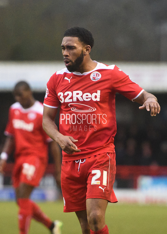Gavin Tomlin is angry at the refereeing during the Sky Bet League 1 match between Crawley Town and Sheffield Utd at Broadfield Stadium, Crawley, England on 28 February 2015. Photo by David Charbit.