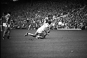 The All Ireland Senior Football Final.1982.19.09.1982.09.19.1982.19th September 1982..The senior final was contested between Offaly and Kerry. Offaly won the title by the narrowest of margins 1.15 to 17 points..O'Connor deflects the ball away from Liston.