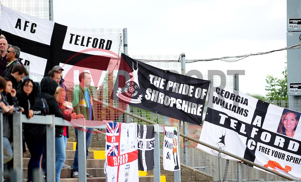 AFC Telford flags - Photo mandatory by-line: Neil Brookman - Mobile: 07966 386802 23/08/2014 - SPORT - FOOTBALL - Bristol - Memorial Stadium - Bristol Rovers v AFC Telford - Vanarama Football Conference