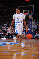 North Carolina guard Larry Drew II #11 brings the ball up court during the 2K Sports Classic at Madison Square Garden. (Mandatory Credit: Delane B. Rouse/Delane Rouse Photography)