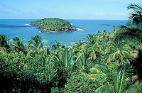 France, Guyane, les Iles du Salut, Ile du Diable vue depuis l'ile Royale // Salut islands, Devil island from Royale island, French Guyane, France