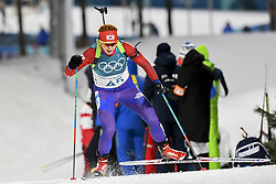 February 11, 2018 - Pyeongchang, GANGWON, SOUTH KOREA - Feb 10, 2018-Pyeongchang, South Korea-Anna FROLINA of South Korea action on the snow during an Olympic Biathlon Women Sprint 7.5Km at Biathlon Center in Pyeongchang, South Korea. (Credit Image: © Gmc via ZUMA Wire)