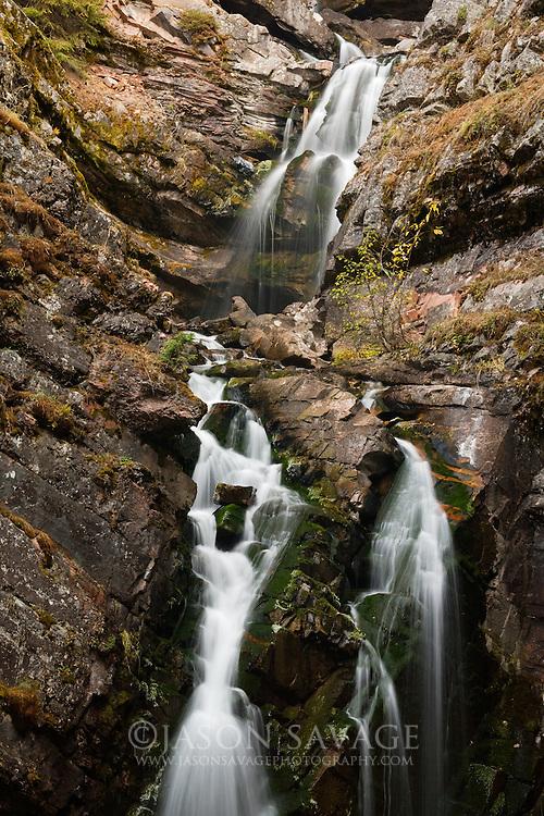 Lodgepole Creek Falls located on the edge of Bob Marshall Wilderness