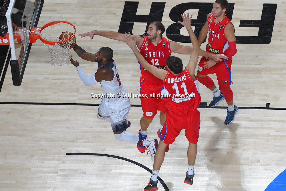 KYRIE IRVING of United states of America basketball team in action during Final FIBA World cup match against NENAD KRSTIC of Serbia, Madrid, Spain Photo: MN PRESS PHOTO<br /> Basketball, Serbia, United states of America, Final, FIBA World cup Spain 2014