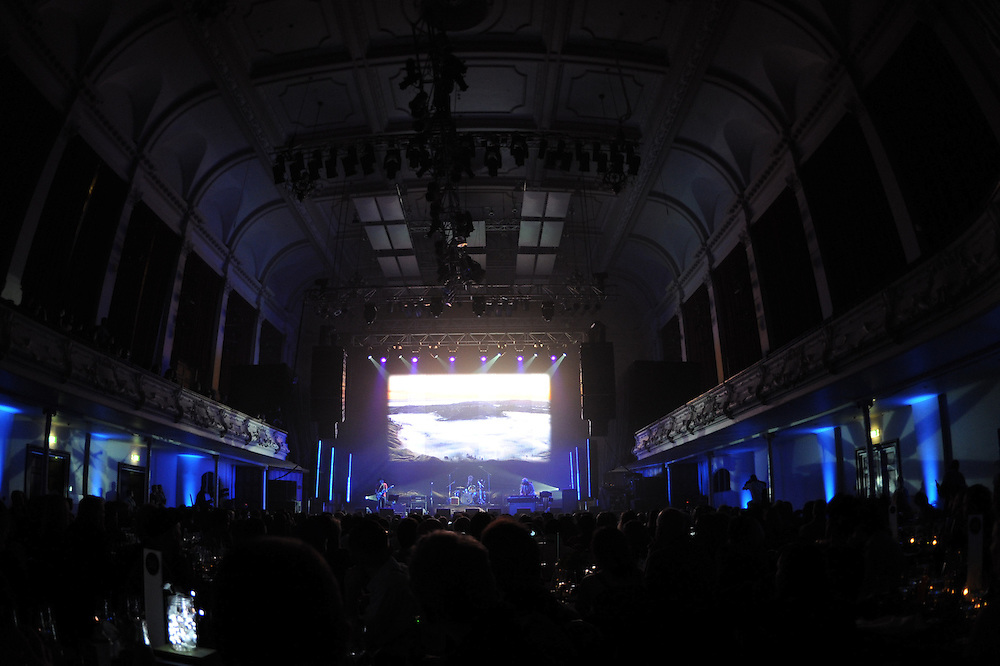 The Nudge on stage at the APRA Silver Scroll Awards 2012. Auckland Town Hall. 13 September 2012.