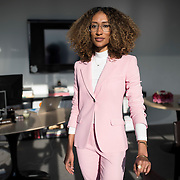 December 14, 2016 - New York, NY : Elaine Welteroth, Editor-in-Chief of Teen Vogue, poses for a portrait in her office in One World Trade in Manhattan on Wednesday afternoon. CREDIT: Karsten Moran for The New York Times