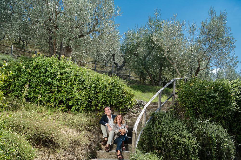12 SEP 2015 - Spoleto (PG) - Marina Flora e Zefferino Monini, Olio Monini.