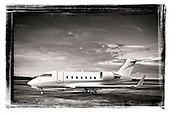 Challenger 604, shot at Fulton County Airport, Atlanta.  Fall 2009.