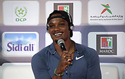 Omar McLeod (JAM)at an IAAF Diamond League press conference prior to the  Meeting International Mohammed VI d'Athletisme de Rabat 2019, Saturday, June 15, 2019, in Rabat, Morocco. (Image of Sport)