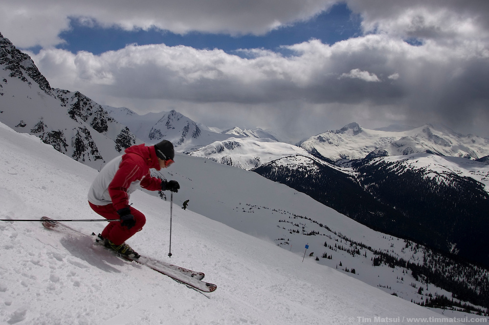 Athlete and businessman Dana Williams at Whistler-Blackcomb ski resort in British Columbia, Canada.