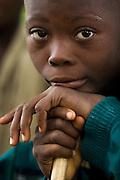 Boy in the village of Lalo, Benin on Friday September 14, 2007.