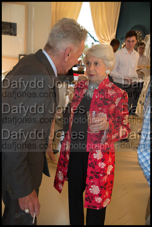 NICKY HASLAM; LADY AIRLIE, Nicky Haslam hosts a party to launch a book by  Maureen Footer 'George Stacey and the Creation of American Chic' . With a foreword by Mario Buatta. Kensington. London. 11 June 2014