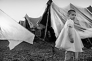 A little girl in the temporary field hospital in Mansehra.  Nov. 2005
