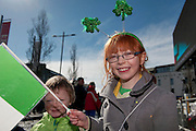 17/03/2013 Roisin McNelis in the Galway St Patrick's Day Parade.Picture:Andrew Downes.