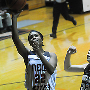 New Hanover's Avonna Cotten shoots over Ashley's Lola Lovitt Friday December 19, 2014 at New Hanover High School in Wilmington, N.C. (Jason A. Frizzelle)