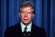 President Jimmy Carter speaking in  September 1979<br /> <br /> Photograph by Dennis Brack<br /> bb45