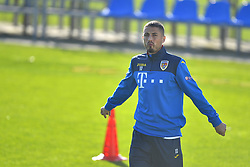 November 13, 2017 - Mogosoaia, Romania - Gheorghe Grozav of Romania Football Team during a training session at Mogosoaia, Romania on 13 November 2017. (Credit Image: © Alex Nicodim/NurPhoto via ZUMA Press)