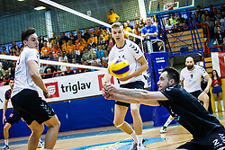 Videcnik Matic, Kotnik Domen of Calcit Volley during volleyball match between Calcit Volley and ACH Volley in Final of 1. DOL Slovenian Man national Championship 2016/17 on 24th of April, 2017 in Kamnik, Slovenija.  Photo by Grega Valancic / Sportida