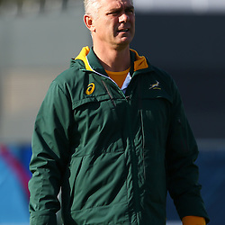 LONDON, ENGLAND - OCTOBER 20: Heyneke Meyer (Head Coach) of South Africa during the South African national rugby team training session at Surrey Sports Park on October 20, 2015 in London, England. (Photo by Steve Haag/Gallo Images)