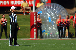 17 September 2016:  REFEREE<br /> Fiore Stabilo. NCAA FCS Football game between Eastern Illinois Panthers and Illinois State Redbirds for the 105th Mid-America Classic on Family Dat at Hancock Stadium in Normal IL (Photo by Alan Look)
